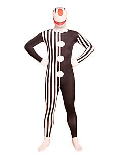 Black Stripes Clown Lycra Full Body Zentai