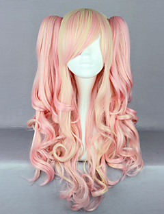 Baby Pink and Cream Curly Pigtails 70cm Sweet Lolita Wig