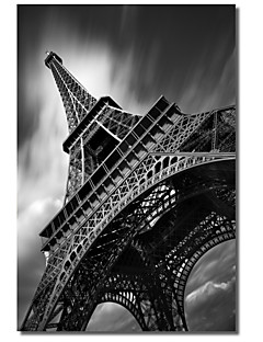 Stretched Canvas Art Landscape Eiffel Tower Study by Moises Levy