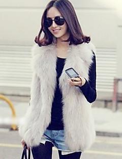 Fur Vest With Shawl In Faux Fur Casual/Party Vest (More Colors)