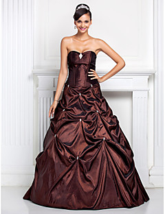Prom / Formal Evening / Quinceanera / Sweet 16 Dress - Chocolate Plus Sizes / Petite Ball Gown / A-line Sweetheart / Strapless