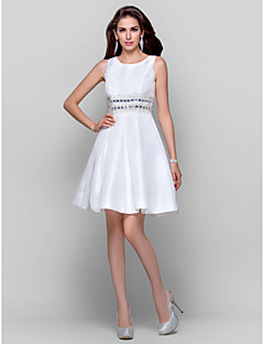 Homecoming Cocktail Party/Graduation Dress - Ivory Plus Sizes Ball Gown/A-line Jewel Short/Mini Taffeta