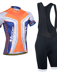 Cycling Jersey with Bib Shorts Men's Short Sleeve BikeBreathable / Quick Dry / Anatomic Design / Ultraviolet Resistant / Waterproof