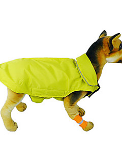 Cat / Dog Coat / Vest Red / Black / Blue Dog Clothes Winter / Spring/Fall Solid Waterproof