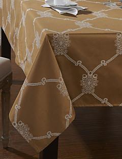 mélange de coton nappes géométriques imprimés en polyester d'or