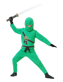 Cosplay Costumes / Party Costume Soldier/Warrior / Ninja Festival/Holiday Halloween Costumes Green PatchworkCoat / Vest / Pants /