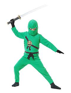 Fantasias de Cosplay / Festa a Fantasia Soldado/Guerreiro / Ninja Festival/Celebração Trajes da Noite das Bruxas Verde PatchworkCasaco /