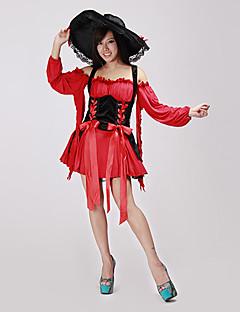 Fantasias de Cosplay / Festa a Fantasia Pirata Festival/Celebração Trajes da Noite das Bruxas Vermelho PatchworkVestido / Peça para