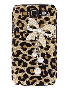 Leopard Bowknot vzor Pevné pouzdro s drahokamu pro Samsung Galaxy S3 i9300