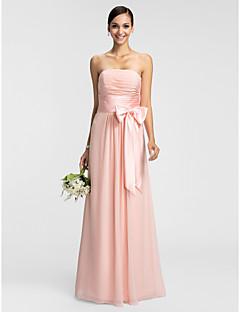 robe de lanting - perle rose tailles plus / gaine / colonne petite bustier parole longueur chiffon