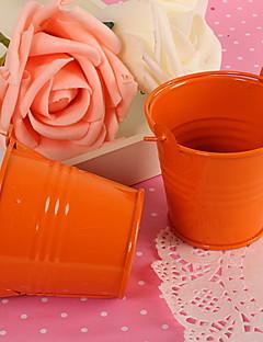 Orange Minisüßigkeit Favor Box Pail Bucket Wedding Party Favor-Set von 12