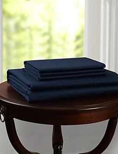 einfach&opulence® flache Platte, 300 tc 100% Baumwolle fester dunkelblau