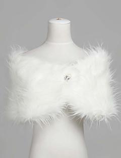 Fashion ermer faux fur kveld / brudesjalet