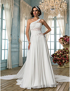 Lanting Bride® A-line / Princess Petite / Plus Sizes Wedding Dress - Classic & Timeless / Elegant & Luxurious Vintage Inspired Court Train