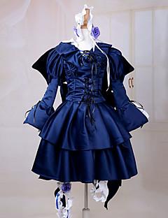 Inspirovaný Pandora Hearts Alice Anime Cosplay kostýmy Cosplay šaty / Šaty Jednobarevné Niebieski Dlouhé rukávyK šatům / Čelenka /