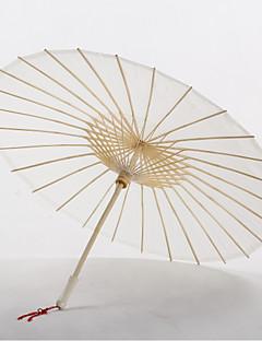 "Katoen Fans en parasols Stuk / Set Paraplu Asian Thema Wit 22 4/5 ""lx 33 1/2"" in diameter (58cm lang x 85cm in diameter)22 4/5 ""lx 2"" in"
