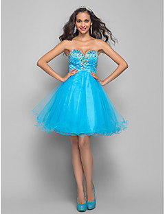 TS Couture Cocktail Party Homecoming Prom Dress - Short A-line Sweetheart Short / Mini Tulle with Beading Crystal Detailing