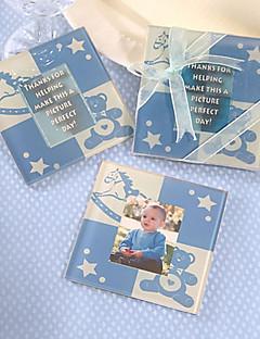 Cute Baby bjørn Coaster (baby blue)