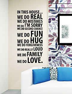 Vi elsker Words Wallstickers