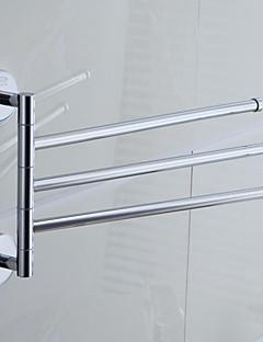 "Towel Bar Chrome Wall Mounted 330 x 235  mm (12.99 x 9.25 "") Brass Contemporary"