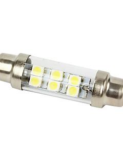 Merdia White 6 LED 1210 SMD Car Festoon Dome Map Reading Light Lamp Bulb 2 pcs-LEDD002B6