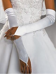 Nizza raso senza dita da sposa gomito lunghezza partito / guanto