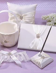 Classic Wedding Collection Set in ivoor satijn (5 stuks)