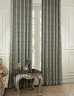 (Two Panels) Michelle Luxury® Recoco Flying Leaves Energy Saving Curtain
