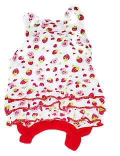Cães Vestidos Vermelho Roupas para Cães Verão Fruta