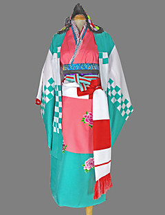 Inspired by Blue Exorcist Shiemi Moriyama Anime Cosplay Costumes Cosplay Suits / Kimono Geometric Blue Long SleeveKimono Coat / Yukata /