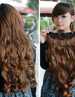 긴 곱슬 머리 갈색 공주 로리타 가발
