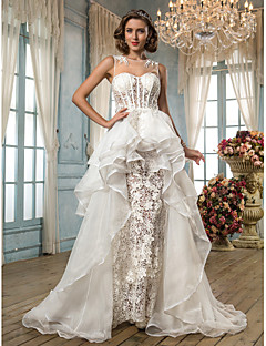Lanting Bride® A-line / Princess Petite / Plus Sizes Wedding Dress - Chic & Modern / Elegant & Luxurious Vintage Inspired Asymmetrical
