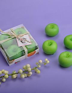 Have Tema Candle Favors-4 Piece / Set Stearinlys Ikke-personaliseret Grøn