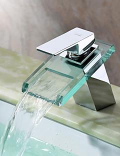 Sprinkle® Badarmaturen  ,  Moderne  with  Chrom Ein Griff Ein Loch  ,  Eigenschaft  for Wasserfall Mittelset