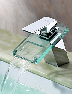 Sprinkle® 浴室用水栓  ,  コンテンポラリー  with  クロム シングルレバー 一つ  ,  特徴  for 滝状吐水タイプ センターセットタイプ