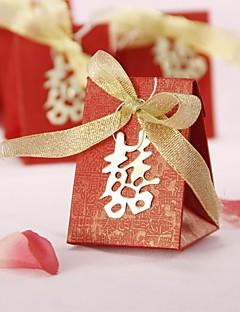 asiatischen Stil zugunsten Box mit Doppel-Glück und Gold Bug (set of 12)
