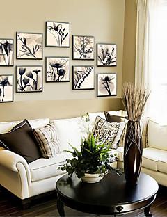 Floral/Botanic Pânză Înrămată / Set Înrămat Wall Art,PVC Material Șampanie Fără Rogojină cu Frame For Pagina de decorare cadru Art