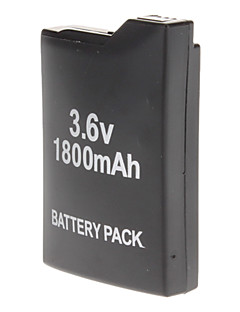 1800mAh Rechargeale Battery Pack + Back Cover Case til Sony PSP 1000 1001