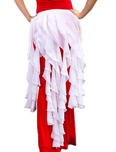 ベリーダンス ベリーダンス用ヒップスカーフ 女性用 訓練 シフォン フリル 1個 ヒップスカーフとベルトは含まれていません.