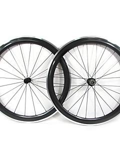 Farsports-700c Road 50mm Carbon Clincher Road sykkelhjul med Alloy Brake
