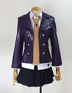 Inspired by Dangan Ronpa Kyoko Kirigiri Video Game Cosplay Costumes Cosplay Suits Solid Black Long SleeveCoat / Shirt / Skirt / Tie /