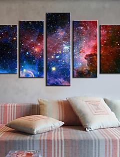 Op gespannen doek kunst Abstracte Galaxy Set van 5