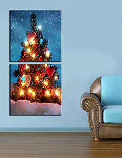 Toiles tendues Coeur d'art sur l'arbre de Noël Ensemble de 2
