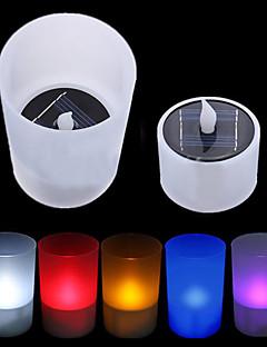 Solar Power Ceai LED Tealight lumânare fără flacără flickering Xmas de nunta (CIS-57263)