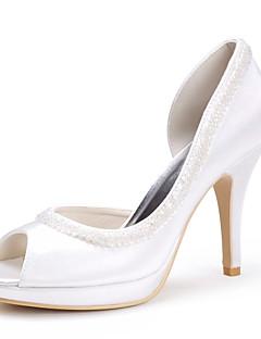 top in raso di qualità superiore tacchi alti peep-dita dei piedi con paillettes e colori shoes.more nozze sposa disponibili (0.984-r-005)