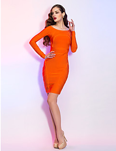 TS Couture Cocktail Party / Holiday Dress - Orange Petite Sheath/Column Bateau Short/Mini Jersey