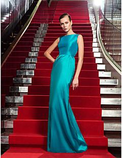 저녁 정장파티/밀리터리 볼 드레스 - 제이드 시스/컬럼 바닥 길이 보석 태피터 플러스 사이즈