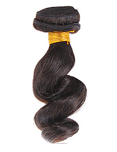 "12 ""100% Human Hair Loose Wave Natural Black Hair Extension"