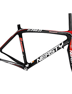700C Full Carbon Black + Red Road Telaio della bicicletta + Forcella anteriore con NEASTY Decal