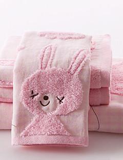 Handtuch-Set, 3-Pack 100% Baumwolle Terry Untwisted (1 Badetuch, 2 Handtücher)